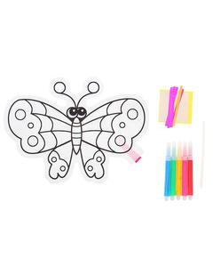 "Шар-раскраска ""Бабочка"" + 5 фломастеров"