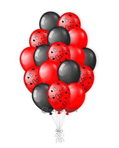 «Стильное признание» — шары с гелием. 26 шт.