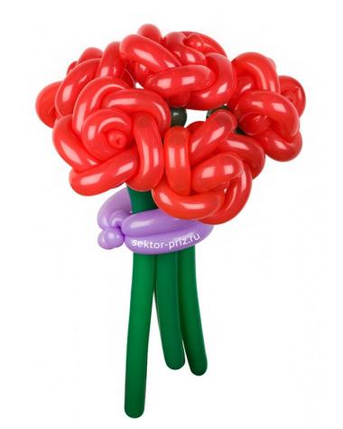 «Купидоны» — 5 роз из шаров