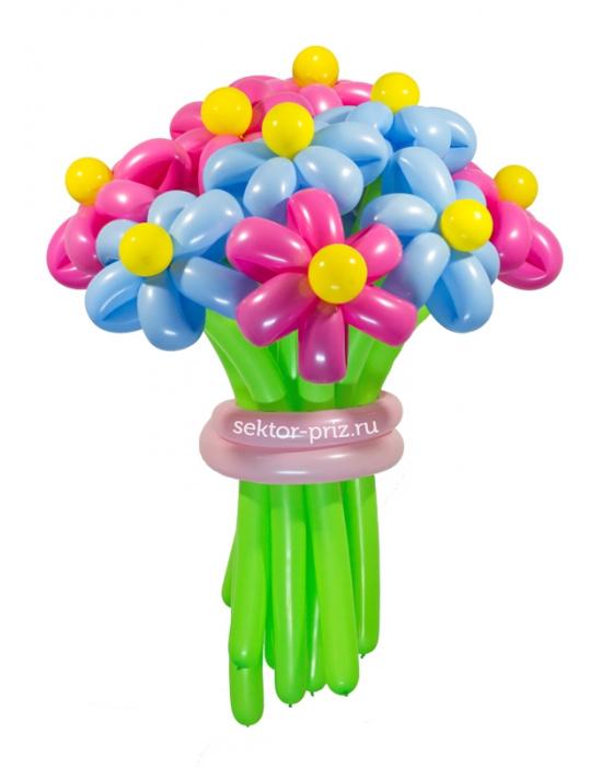 «Ромашковый рай» — 15 цветов из шаров