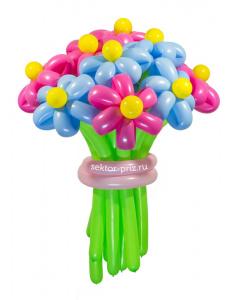 Букеты из воздушных шаров, «Ромашковый рай» — 13 цветов из шаров