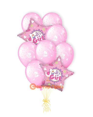 «Спасибо за дочь» — шары с гелием. 15 шт.