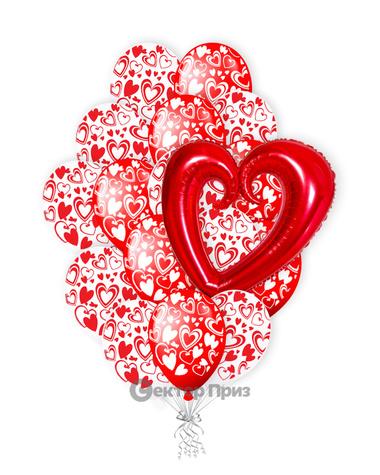 «Миллион поцелуев» — шары с гелием. 31 шт.