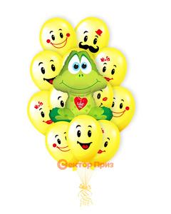 «Влюбленный лягушонок» — шары с гелием. 19 шт.