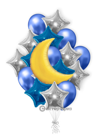 «Ночное небо» — шары с гелием. 23 шт.