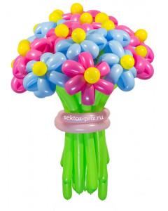 Букеты из воздушных шаров, «Ромашковый рай» — 23 цветка из шаров