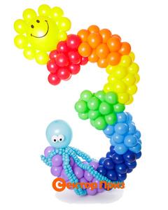 Фигура из шаров «Цифра пять - тачки»