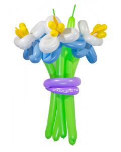 Букеты из воздушных шаров, «Элит» — 3 цветка из шаров