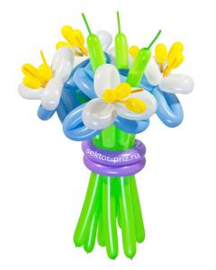 Букеты из воздушных шаров, «Элит» — 5 цветов из шаров