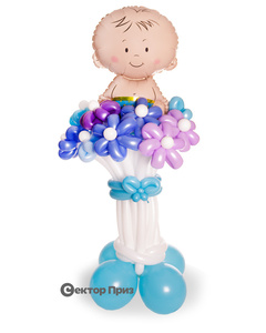 «Мега» — 15 цветов из шаров