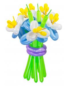 Букеты из воздушных шаров, «Элит» — 9 цветов из шаров