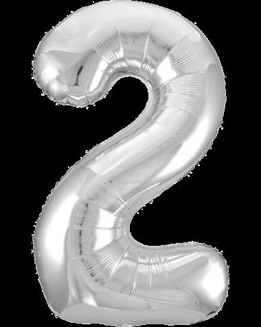 Цифра два серебро