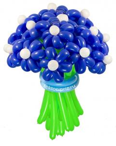 Букеты из воздушных шаров, «Ночное небо» — 23 цветка из шаров