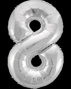 Цифра восемь серебро