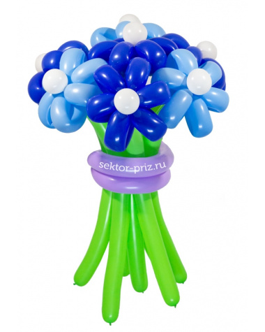 «Храброе сердце» — 7 цветов из шаров