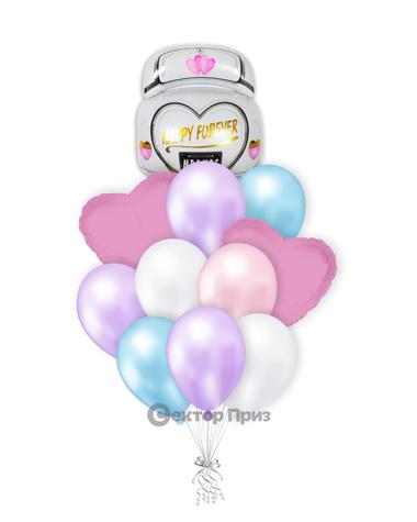 «Свадебное настроение» — шары с гелием. 15 шт.