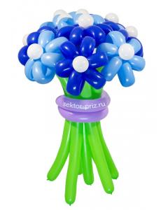 Букеты из воздушных шаров, «Храброе сердце» — 9 цветов из шаров