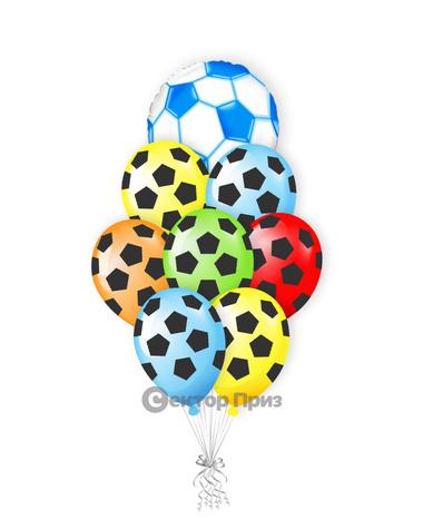 «Яркий футбол» — шары с гелием. 12 шт.