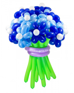 Букеты из воздушных шаров, «Храброе сердце» — 23 цветка из шаров