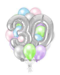«Нежность» — шары с гелием. 30 шт.