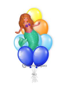 «Русалочка» — шары с гелием. 12 шт.
