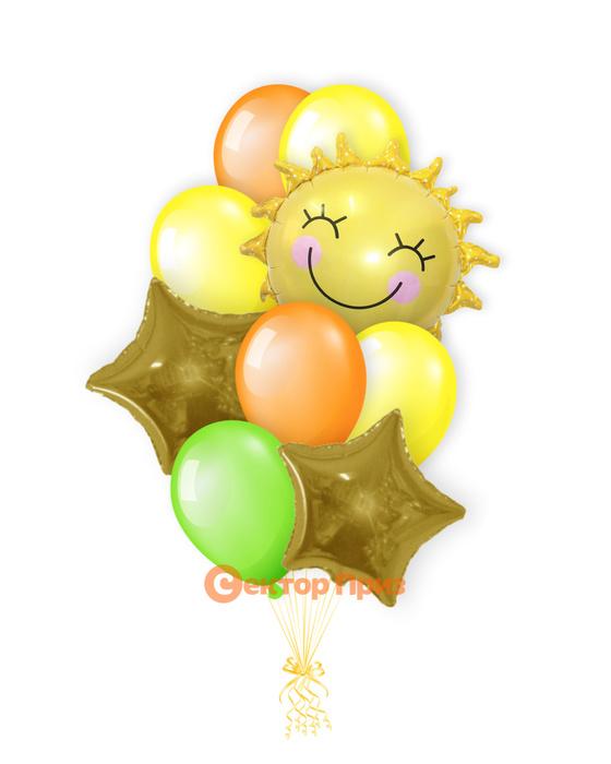 «Солнышко» — шары с гелием. 14 шт.