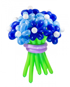 Букеты из воздушных шаров, «Храброе сердце» — 13 цветов из шаров