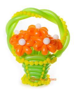 Букеты из воздушных шаров, «Солнечная улыбка» — 7 цветов из шаров