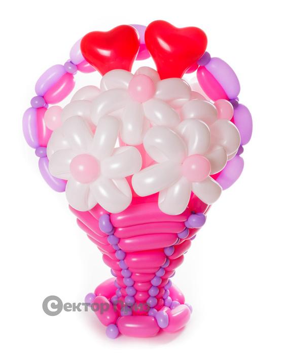 «Грезы любви» — 7 цветов из шаров