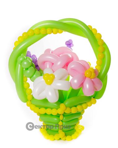 «Краски лета» — 9 цветов из шаров