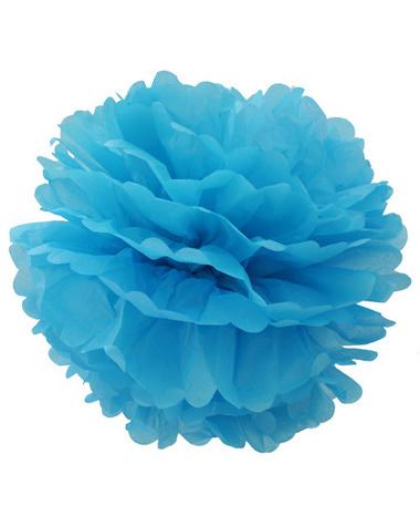 Помпон голубой  №24