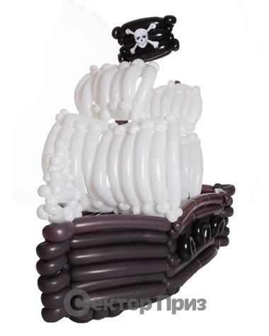 Фигура из шаров «Пиратский корабль»