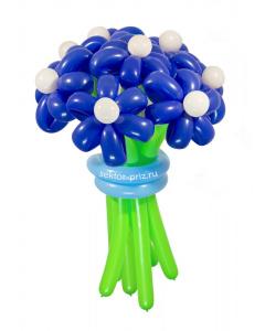 Букеты из воздушных шаров, «Ночное небо» — 9 цветов из шаров