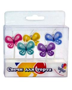 Товары для праздника, Свечи бабочки 5шт