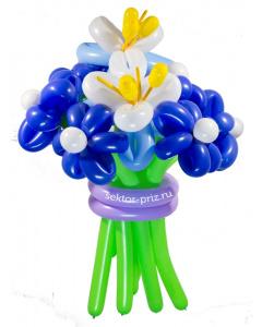 Букеты из воздушных шаров, «Затмение» — 9 цветов из шаров