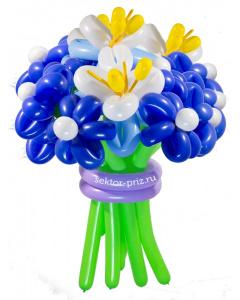 Букеты из воздушных шаров, «Затмение» — 13 цетов из шаров