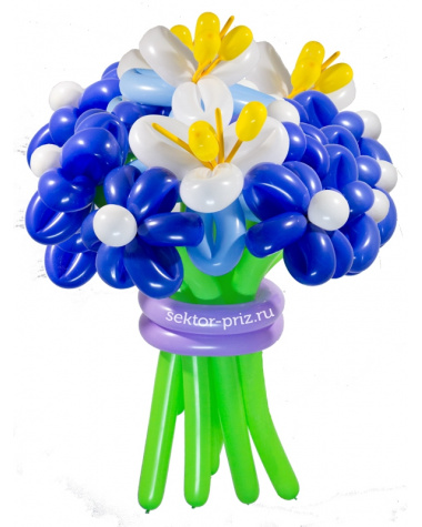 «Затмение» — 15 цветов из шаров