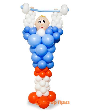 Фигура из шаров «Штангист»