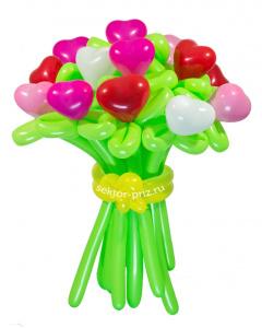 Букеты из воздушных шаров, «Коктейль» — 15 цветов из шаров