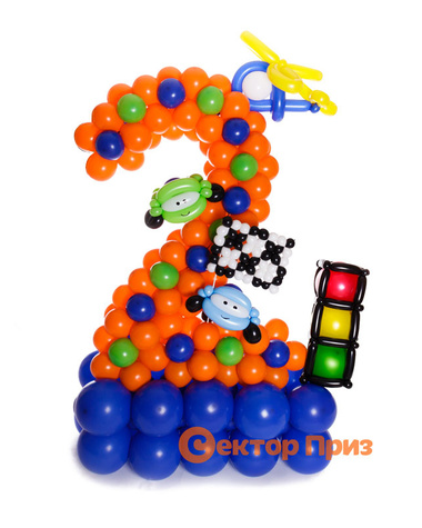 Фигура из шаров «Цифра два тачки»