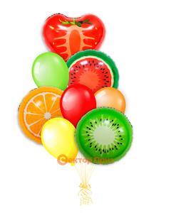 «Сочный» — шары с гелием. 12 шт.