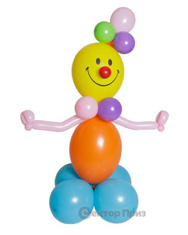 Фигура из шаров «Веселый клоун»