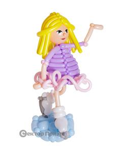 Фигура из шаров «Дама с собачками»