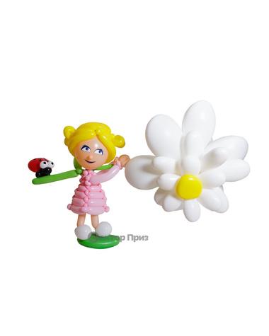 Фигура из шаров «Девочка с цветком»