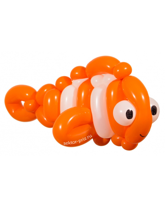 Фигура из шаров «Рыба-клоун»