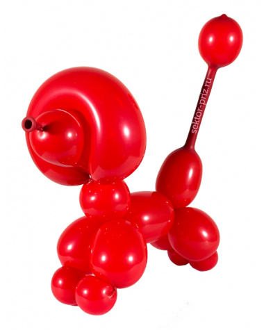 Фигуры из воздушных шаров, Фигура из шаров «Пудель»