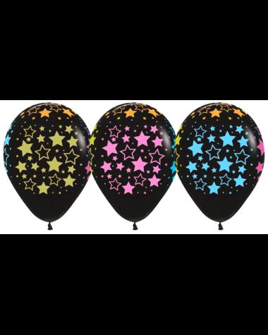 Цветные звезды, черный