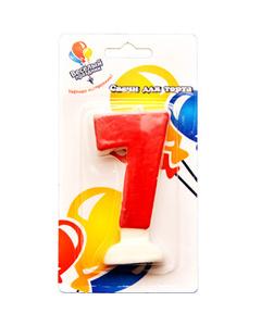 Свеча «Цифра 7» красная