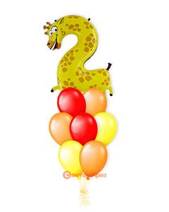 «Жираф на два года» — шары с гелием. 13 шт.