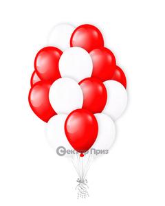 «Красно-белые шары» — шары с гелием. 20 шт.